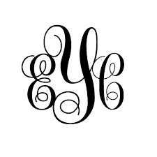 monogram initials 3 letter monogram initials nursery or room wall decal sticker