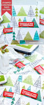 stamp fun christmas trees pattern using various tree images from