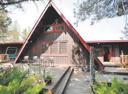 aframe homes slideshow tumalo ski cabin a frame home captures ski style