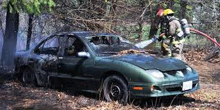 scrap car destroyed by fire in hamilton township