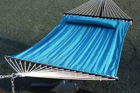double wide hammock bed and pillow teal g3elite official
