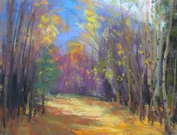landscape painting artists studio 8 leaves bough colorful colorado landscape paintings