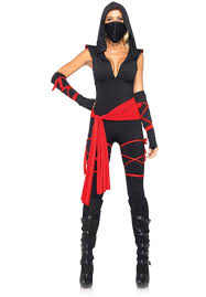 deadly ninja costume warrior fancy dress leg avenue