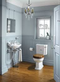 interior exquisite bathroom decoration design using light blue