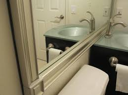 Trim For Bathroom Mirror by Roomations Budget Bath Remodel