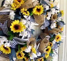 burlap sunflower wreath weekend flash sale sunflower wreath summer front door decor