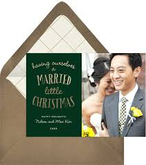 married christmas cards married christmas cards greenvelope