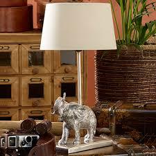 elephant table lamp base antique silver achica