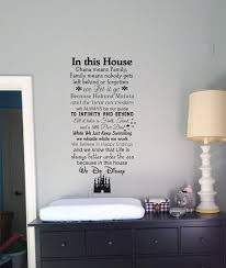 Disney Bedroom Wall Stickers In This House We Do Disney Wall Decals Disney Quotes Wall