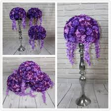 Purple Flowers Centerpieces by Online Buy Wholesale Purple Wedding Flower Centerpieces From China