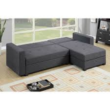 sofa with reversible chaise lounge 2pc adjustable sofa w flip up compartment in blue grey color mcf