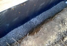 best exterior foundation waterproofing systems bat perimeter drain