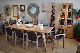 solid wooden 8 seater dining set distressed timber
