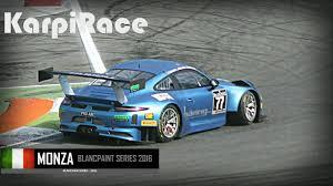 porsche gt3 racing series porsche 911 gt3 r blancpain endurance series monza 2016