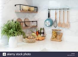 Chef Decor For Kitchen by Kitchen Utensils Hanging Wall Stock Photos U0026 Kitchen Utensils