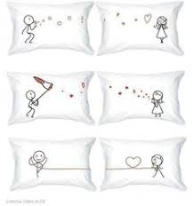 his and hers pillow cases wedding gift couples pillow cases my side your side his and hers
