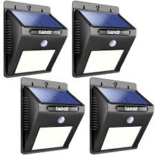 solar outdoor patio deck lights 25 led outside motion sensor