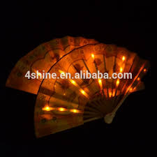 held paper fans led paper craft led held fan held folding fans led paper