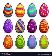 big easter eggs big set with easter eggs royalty free vector image