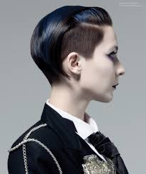 short undercut with free ears and a tint