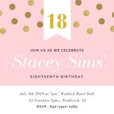 birthday invitation templates 18 birthday invitation 18th birthday invitation templates canva