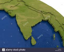 India On A Map by India On Detailed Model Of Planet Earth With Visible Country