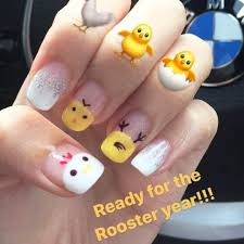 cny nails ready for rooster year kaitinghearts dayre