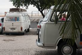 volkswagen bus beach vw bay window bus on rio de janeiro streets classiccult