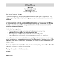 cover resume letter exles best payroll specialist cover letter exles livecareer