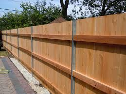 Patio Fences Ideas by Home Depot Fence Posts Wood Fence With Metal Posts Designs Metal