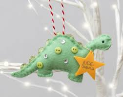 dinosaur ornament etsy