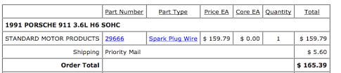 200 plug wires rennlist porsche discussion forums