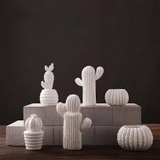 aliexpress buy handmade creative ceramic white cactus