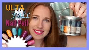 ulta fall nail pail collection review 2015 youtube