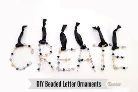diy ornaments beaded letters tutorial darice