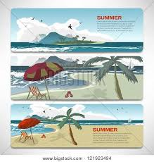 vacation gift cards set summer template banners gift vector photo bigstock