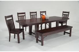 Dining Bench With Storage Mesa 7 Piece Dining Set With Storage Bench Bob U0027s Discount Furniture