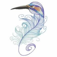 bird feathers 04 sm machine embroidery designs machine