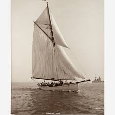 early silver gelatin photographic print by beken of cowes yacht