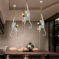Edison Pendant Light Modern Handmade Resin Monkey Edison Pendant L Loft Style Hemp