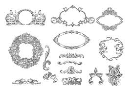 etched frames ornament brush pack free photoshop brushes at