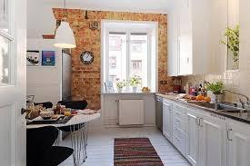briques cuisine idées de conception des murs de cuisine en briques