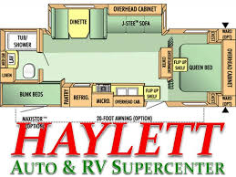Jayco Travel Trailers Floor Plans by 2007 Jayco Jay Flight 26bhs Travel Trailer Coldwater Mi Haylett