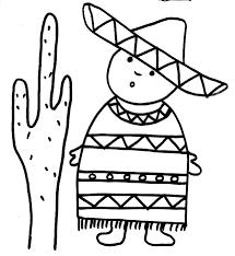 coloriage petit mexicain tête à modeler
