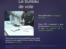 tenir un bureau de vote elections des délégués ppt télécharger