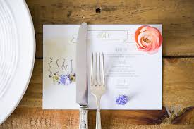 Diy Wedding Menu Cards Spring Wedding The Details Weddingstar Blog