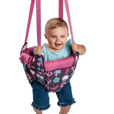 evenflo exersaucer doorway jumper pink bumbly toys