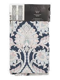 Turquoise Paisley Curtains Amazon Com Envogue Floral Paisley Scrolls Window Panels Set Of 2