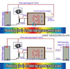 0 50v dc dual display voltage current meter voltmeter 20a ammeter