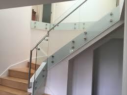 Glass Stair Handrail Modern Glass Stair Railing Design Interior Waplag Metal Ideas For